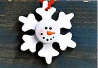 Wooden Snowman Snowflake