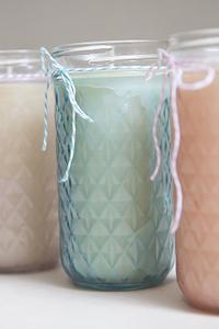 Tinted Mason Jar Candles