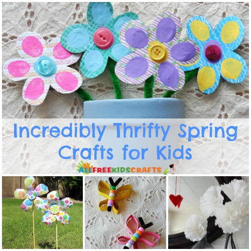 Incredibly Thrifty Spring Crafts for Kids