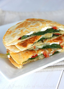 Cheese-and-Spinach-Quesadillas