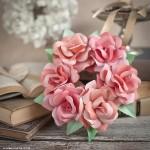 Stunning Paper Rose Wreath