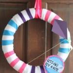 Summer Stripes DIY Wreath