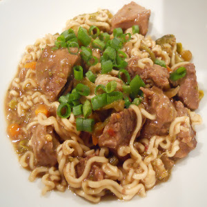 Asian Beef with Ramen Noodles