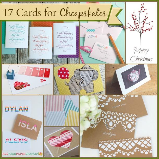 17 Homemade Cards for Cheapskates