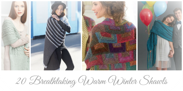 20 Breathtaking Warm Winter Shawls