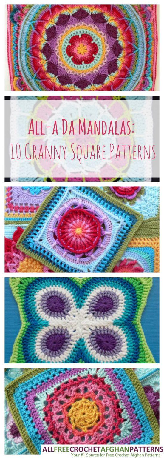 All A Da Mandalas 10 Granny Square Patterns Cheap Eats And