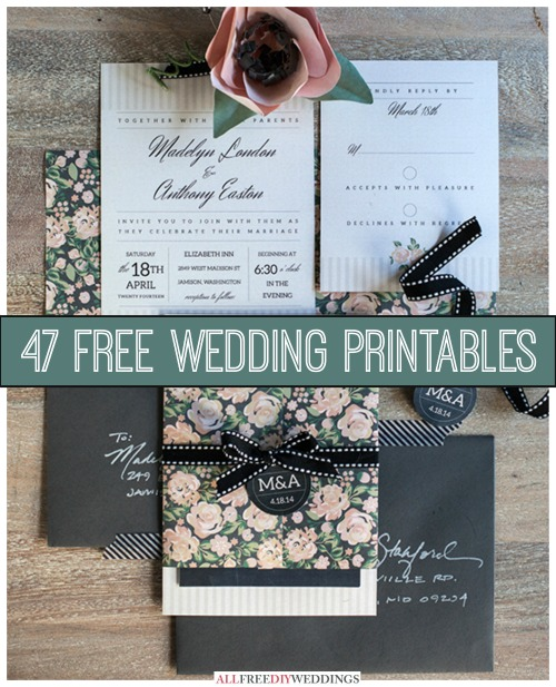 47 free wedding printables cheap eats and thrifty crafts